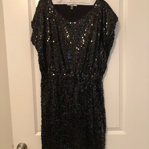DKNY Short Sequined Cocktail Dress